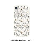 SE_I9MCSDLFL_WH [iPhone XR用ケース 3D 立体 TPU シンプル デザイン 耐衝撃 ハード カバー SwitchEasy Fleur/White]