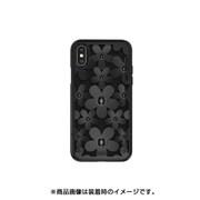 SE_I9SCSDLFL_BK [iPhone XS用ケース 3D 立体 TPU シンプル デザイン 耐衝撃 ハード カバー Fleur/Black for iPhone XS]