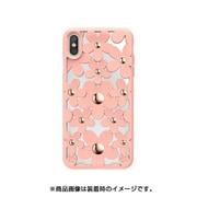 SE_I9SCSDLFL_PK [iPhone XS用ケース 3D 立体 TPU シンプル デザイン 耐衝撃 ハード カバー Fleur/Pink for iPhone XS]