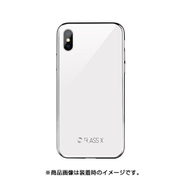 SE_I9SCSDLX2_WH [iPhone XS用ケース 硬度9H 強化ガラス アンチスクラッチ 加工 GLASSX2018/White for iPhone XS]