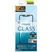 TR-IP18M-GM-BCCCBK [iPhone XR 光沢 ブルーライト低減フレームガラス 液晶保護フィルム ブラック]