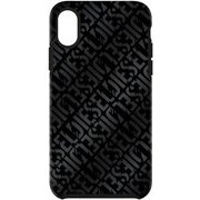DIPH-020-DLBLK [iPhone XR用 DIESEL COMOLD CASE -Distressed Logo PB/BF Double-IML]