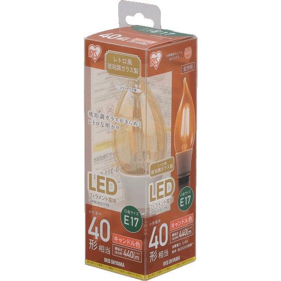 LDF3C-G-E17-FK [LEDフィラメント電球 E17口金 40形相当 キャンドル色相当  密閉器具対応]