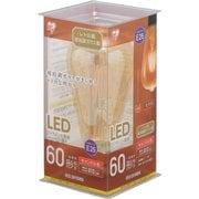 LDF7C-G-FK [LEDフィラメント電球 E26口金 T形 60形相当 キャンドル色相当  密閉器具対応]