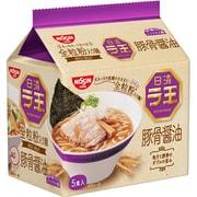 日清ラ王 豚骨醤油 5食パック 490g