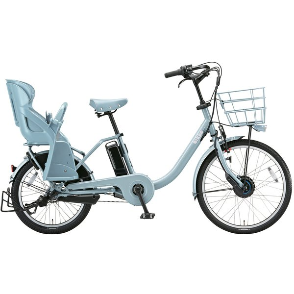 BM0B49 3P908B0 [電動アシスト自転車 bikke MOB dd(ビッケ モブ dd) 前24型/後20型 14.3Ah相当 内装3段変速 E.XBKブルーグレー 2019年モデル]