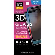 PG-18YGL10 [iPhone XR用保護ガラス3D PETガラス 覗き見防止]