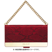 EB14380i58 GD trim Wallet RD [iPhone XS用]