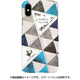 HM14444i58 Triangle Pattern BL [iPhone XS用]