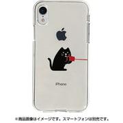 DS14821i61 [iPhone XR用 ソフトクリアケース 糸電話 話すネコ]