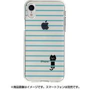 DS14829i61 [iPhone XR用 ソフトクリアケース ボーダーネコ BL]