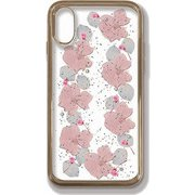 PF-CI9-062 [iPhone XR用 押し花ケース pale pink flowers]