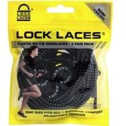 L-015 [結ばない靴ひもLOCK LACES Black 2-Pack]