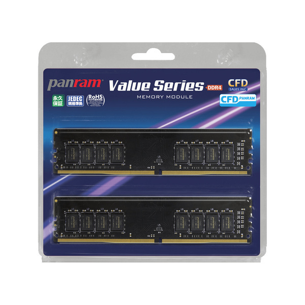 W4U2666PS-16GC19 [デスクトップ用メモリ 288pin DIMM 16GB 2枚組]