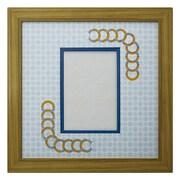 ORI柄フレーム 179 L判写真 円形 古紙風×B
