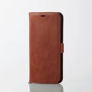 PM-A18DPLFYBR [iPhone XS Max用 ソフトレザーカバー 磁石付 ブラウン]