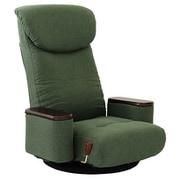 83-873 [松風 木製ボックス肘付回転座椅子 GR]