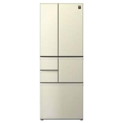 SJ-F501E-N [プラズマクラスター冷蔵庫 (502L・フレンチドア) 6ドア シャンパンゴールド]
