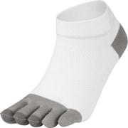 5Fアーチサポートショートソックス 5 Finger Arch Support Short Socks 3F93357 (WH)ホワイト×グレー Mサイズ [スポーツソックス]