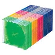 FCD-PU50MXN [Blu-ray DVD CDケース(スリムタイプ 50枚セット 5色ミックス)]