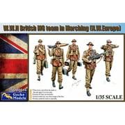 GEC35GM0014 WW.II 英軍 機関銃チーム 行軍中 北西ヨーロッパ フィギュア5体+武器&装備品 [1/35スケール プラモデル]