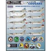 アメリカ海軍 F9F-8 カラフル・グレー&ホワイト・クーガー デカール Part.I [1/48スケール デカール]