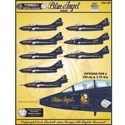 アメリカ海軍 F9F-8 ブルーエンジェルス クーガー デカール [1/48スケール デカール]