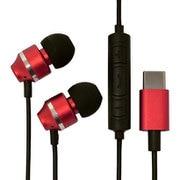 RESMSC01RD [USB Type-C ステレオイヤホンマイク スマートフォン用 スイッチ付 レッド]