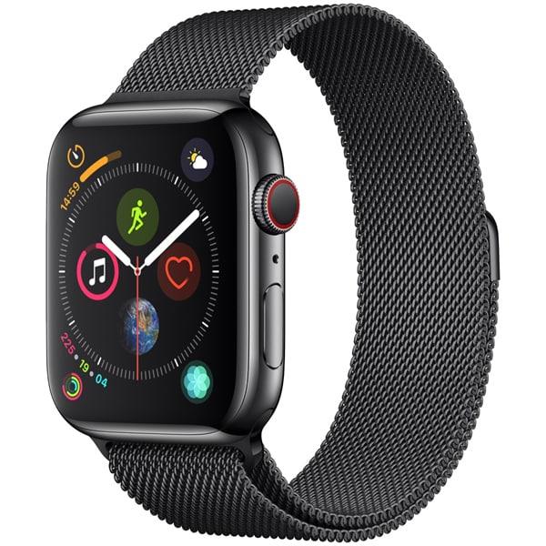Apple Watch Series 4(GPS+Cellularモデル)- 44mm スペースブラックステンレススチールケース と スペースブラックミラネーゼループ [MTX32J/A]
