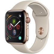 Apple Watch Series 4(GPS+Cellularモデル)- 44mm ゴールドステンレススチールケース と ストーンスポーツバンド [MTX42J/A]