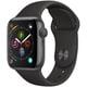 Apple Watch Series 4(GPSモデル)- 40mm スペースグレイアルミニウムケース と ブラックスポーツバンド [MU662J/A]