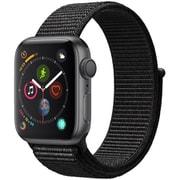 Apple Watch Series 4(GPSモデル)- 40mm スペースグレイアルミニウムケース と ブラックスポーツループ [MU672J/A]