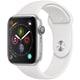 Apple Watch Series 4(GPSモデル)- 44mm シルバーアルミニウムケース と ホワイトスポーツバンド [MU6A2J/A]