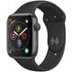 Apple Watch Series 4(GPSモデル)- 44mm スペースグレイアルミニウムケース と ブラックスポーツバンド [MU6D2J/A]