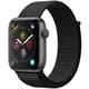 Apple Watch Series 4(GPSモデル)- 44mm スペースグレイアルミニウムケース と ブラックスポーツループ [MU6E2J/A]