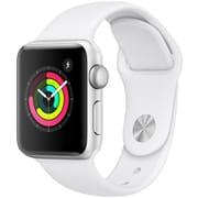 Apple Watch Series 3(GPSモデル)- 38mm シルバーアルミニウムケース と ホワイトスポーツバンド [MTEY2J/A]