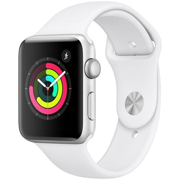 Apple Watch Series 3(GPSモデル)- 42mm シルバーアルミニウムケース と ホワイトスポーツバンド [MTF22J/A]