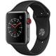 Apple Watch Series 3(GPS+Cellularモデル)- 42mm スペースグレイアルミニウムケース と ブラックスポーツバンド [MTH22J/A]