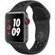 Apple Watch Nike+ Series 3(GPS+Cellularモデル)- 38mm スペースグレイアルミニウムケース と アンスラサイト/ブラック Nikeスポーツバンド [MTGQ2J/A]