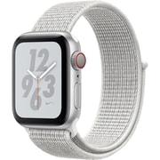 Apple Watch Nike+ Series 4(GPS+Cellularモデル)- 40mm シルバーアルミニウムケース と サミットホワイト Nikeスポーツループ [MTXF2J/A]