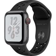 Apple Watch Nike+ Series 4(GPS+Cellularモデル)- 40mm スペースグレイアルミニウムケース と アンスラサイト/ブラック Nikeスポーツバンド [MTXG2J/A]