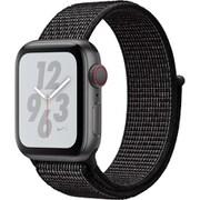 Apple Watch Nike+ Series 4(GPS+Cellularモデル)- 40mm スペースグレイアルミニウムケース と ブラック Nikeスポーツループ [MTXH2J/A]