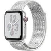 Apple Watch Nike+ Series 4(GPS+Cellularモデル)- 44mm シルバーアルミニウムケース と サミットホワイト Nikeスポーツループ [MTXJ2J/A]