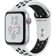 Apple Watch Nike+ Series 4(GPS+Cellularモデル)- 44mm シルバーアルミニウムケース と ピュアプラチナム/ブラック Nikeスポーツバンド [MTXK2J/A]