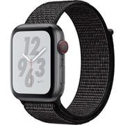 Apple Watch Nike+ Series 4(GPS+Cellularモデル)- 44mm スペースグレイアルミニウムケース と ブラック Nikeスポーツループ [MTXL2J/A]