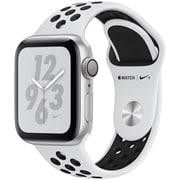 Apple Watch Nike+ Series 4(GPSモデル)- 40mm シルバーアルミニウムケース と ピュアプラチナム/ブラック Nikeスポーツバンド [MU6H2J/A]