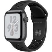 Apple Watch Nike+ Series 4(GPSモデル)- 40mm スペースグレイアルミニウムケース と アンスラサイト/ブラック Nikeスポーツバンド [MU6J2J/A]