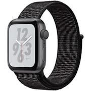 Apple Watch Nike+ Series 4(GPSモデル)- 40mm スペースグレイアルミニウムケース と ブラック Nikeスポーツループ [MU7G2J/A]