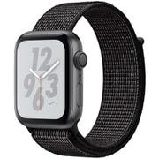 Apple Watch Nike+ Series 4(GPSモデル)- 44mm スペースグレイアルミニウムケース と ブラック Nikeスポーツループ [MU7J2J/A]