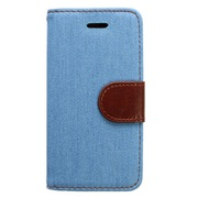 LG-PIP5-SC1-LB [iPhone SE/5s/5c/5用 デニム素材 手帳型ケース ライトブルー]